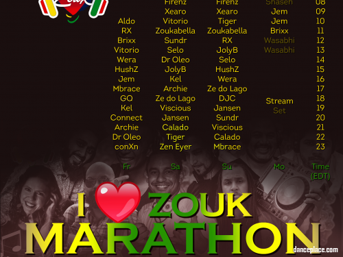 I Heart Zouk Radio Marathon April